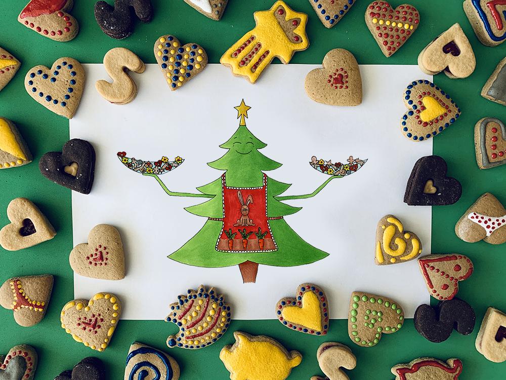 Vánoční stromeček ilustrace